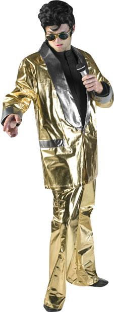 Gold Lame Theater Elvis Plus Size Costume