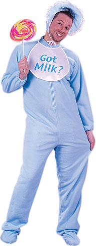 Adult Blue Baby Man Costume