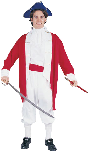 Adult Red Colonial Captain Costume