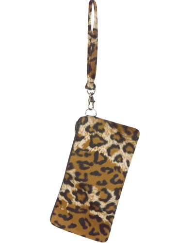 Woman's Cheetah Wristlet Handbag