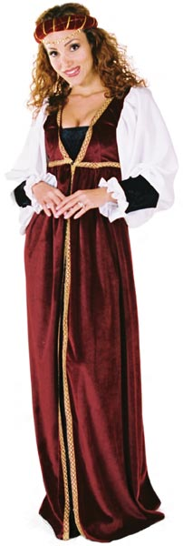 Adult Velvet Renaissance Woman Costume