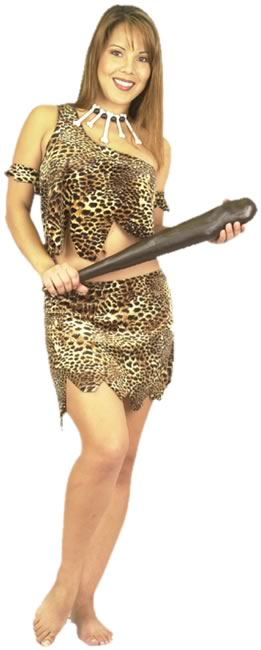 Adult 2 PC Sexy Cavewoman Costume