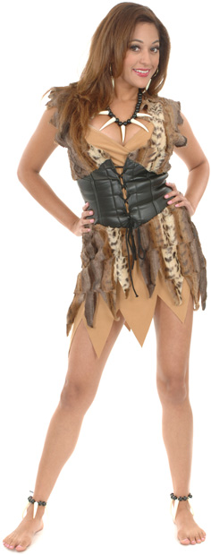 Adult Plush Fur Cave Woman Costume