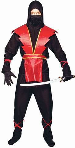 Adult Red Ninja Costume