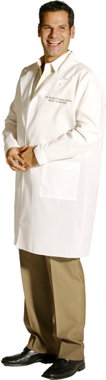 Dr. Kenny Lingus Oral Surgeon Lab Coat Costume