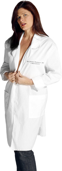 Dr. Juana Hummer Urologist Lab Coat Costume