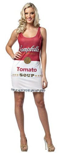 Adult Campbell's Tomato Soup Costume Dress