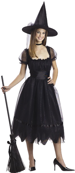 Adult Black Bad Witch Costume