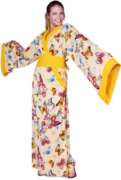 Adult Yellow Butterfly Dress Costume