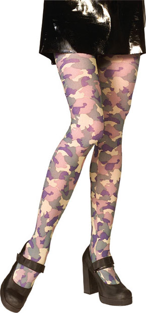 Adult Camouflage Costume Tights