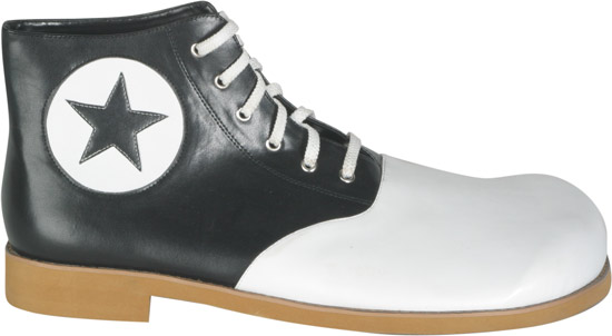 Black & White Star Converse Style Clown Shoes