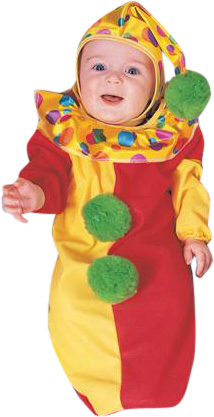 Baby Bunting Colorful Clown Costume