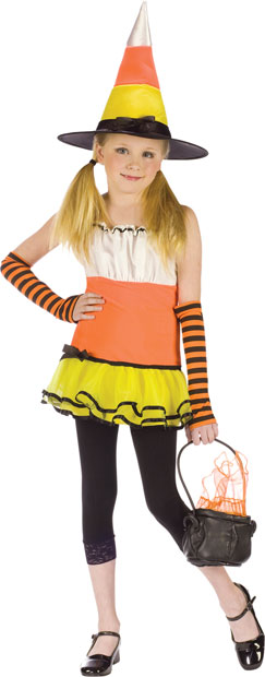 Preteen Girl's Candy Corn Witch Costume