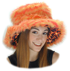 Orange Fur Flame Sugar Daddy Hat