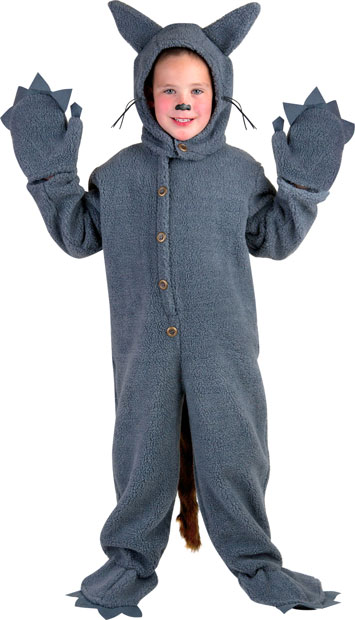 Child's Grey Wolf Costume