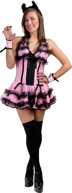 Adult Pink Showtime Kitty Costume
