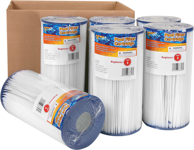 Summer Escapes Type B Filter Cartridge Case of 6