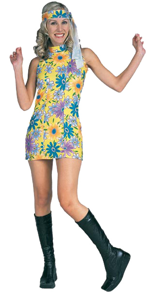 Adult 60s Groovy Girl Dress Costume