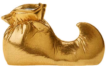 Child's Gold Jester Shoes