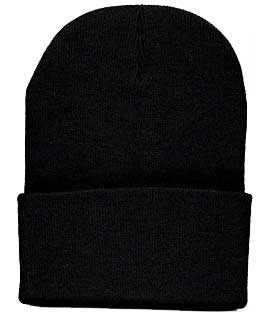 Beanie Ski Cap Hat in Black