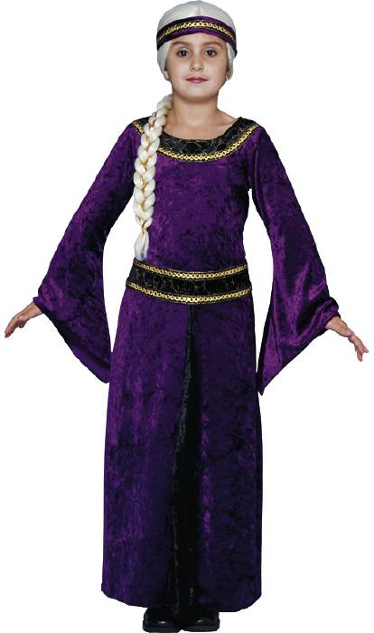 Child's Purple Guinevere Renaissance Costume