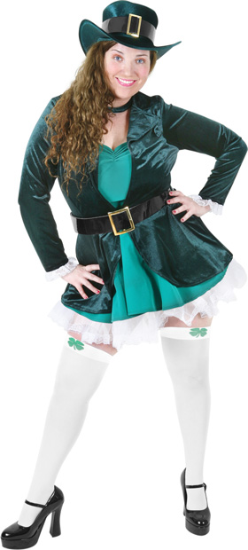 Plus Size Sexy Leprechaun Costume