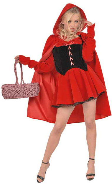Sexy Dark Red Riding Hood Costume