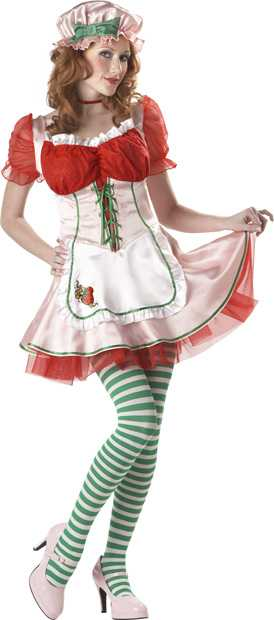 Woman's Strawberry Patch Girl Costume