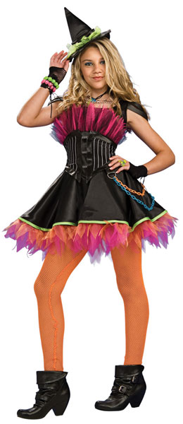 Teen Punk Rock Witch Costume