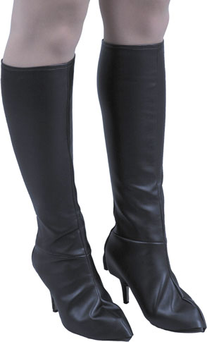 Women's Leatherette Knee High Boot Covers