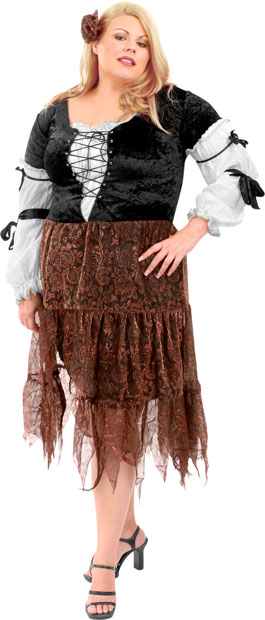 Plus Size Gypsy Pirate Wench Costume