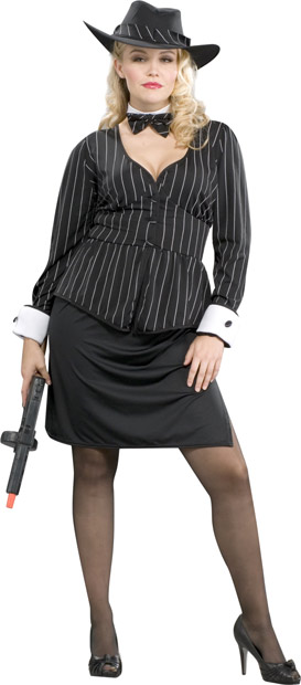 Woman's Plus Size Classy Gangster Costume