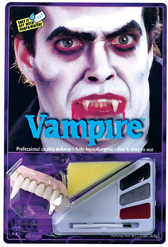 Vampire Halloween Makeup Kit w/ Teeth