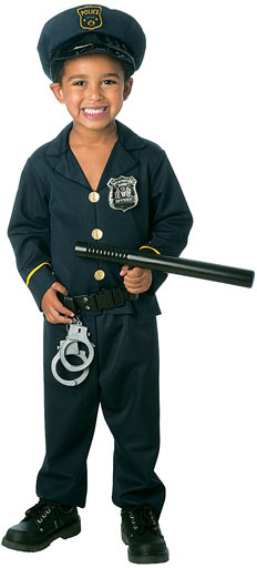 Toddler Jr Policeman Costume