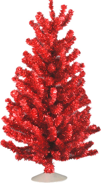 Red 12 Inch Artificial Christmas Tree