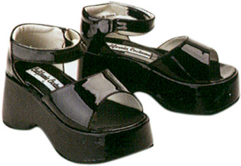 Child's Black Diva Costume Shoes