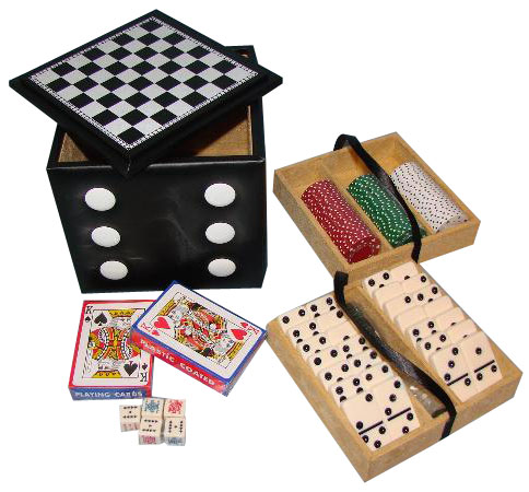 """6�"""" Deluxe Dice Cube Game Set"""