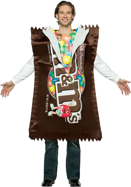 Adult M&M Plain Bag Costume