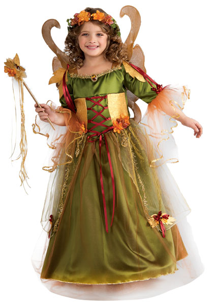 Child Forest Fairy Queen Costume Dress