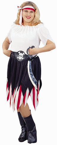 Plus Size Pirate Wench Costume