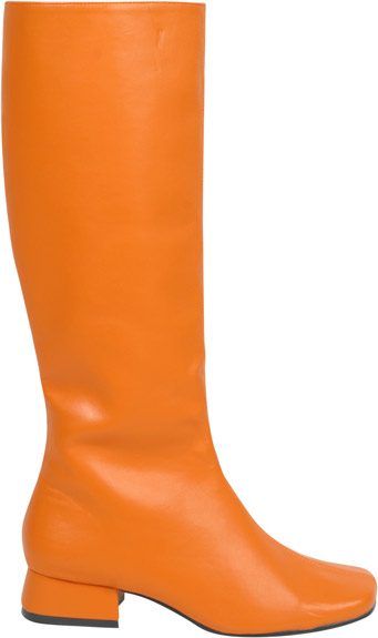 Women's Long Orange Go Go Boots