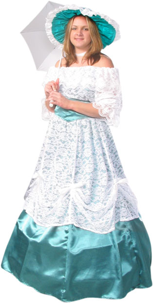 Adult Green Scarlet Ohara Costume