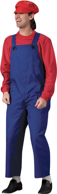 Adult High Quality Video Game Plumber Costume