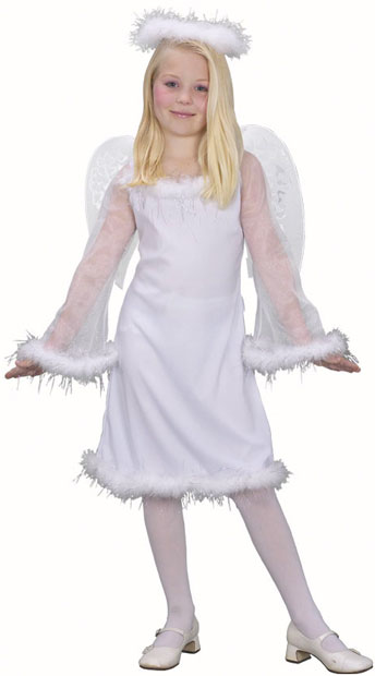 Child's White Angel Costume