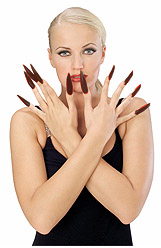 Long Black Fingernail Kit
