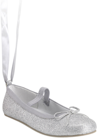 Child's Silver Ballerina Shoes