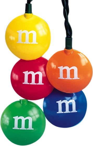 M & Ms Candy String Lights