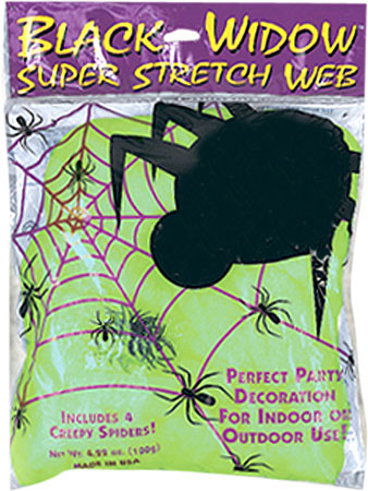 Green Glow-In-The-Dark Spider Web