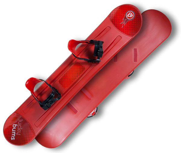 Lucky Bums Red Beginners 120cm Snowboard