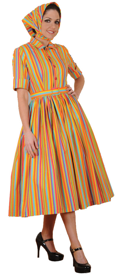 Bold 60s Colors Dress
